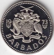 @Y@   Barbados  25 Cent 1973    PROOF    (C361) - Barbados (Barbuda)