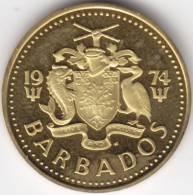 @Y@   Barbados  5 Cent 1974    PROOF    (C363) - Barbados