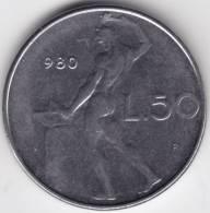 @Y@ Italië  50 Lire 1980   UNC    (C371) - 1946-… : Republiek