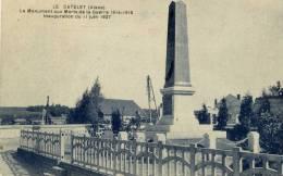 02- LE CATELET- Le Monument Aux Morts Inauguré 11 Juin 1927 - Non Classés