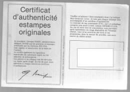 Certificat D'authenticite Stampes Originales - Documentos Antiguos