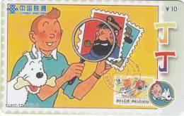 CHINA - Tin Tin, China Unicom Prepaid Card, Exp.date 31/10/06, Used - Comics