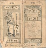 CARTE MICHELIN 1910 /1920 - Carte à 1.00 Fr Genève Annecy, N 29 Couverture  AB - Intérieur TTB - Cartes Routières