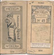CARTE MICHELIN 1910 /1920 - Carte à 1.00 Fr - Marseille Cannes - N 45 - Couverture TB Interieur TTB - Cartes Routières