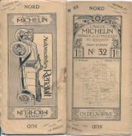CARTE MICHELIN 1910 /1920 - Carte à 1.00 Fr - SAINT ETIENNE N 32 - Couverture B+ (tache Petit Plis)  Interieur TTB - Cartes Routières
