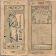 CARTE MICHELIN 1910 /1920 - Carte à 1.00 Fr - PERPIGNAN  N 47 Couverture  B Interieur TTB - Cartes Routières