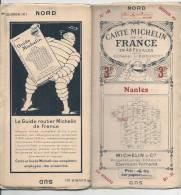 CARTE MICHELIN 1920 /1930 - Carte à 3.00 Fr Puis 4.00 - NANTES  N 18 Couverture TTB Intérieur état Neuf - Cartes Routières