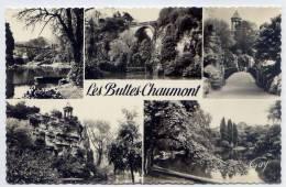 PARIS 19°--env 1950-55--Les Buttes Chaumont--Vues Diverses,cpsm 9 X 14 N° 3322 éd Leconte - Arrondissement: 19