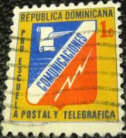 Dominican Republic 1945 Communications Emblem 1c - Used - Dominican Republic