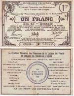 VOSGES Un Franc P 88/74 SUP - Bons & Nécessité