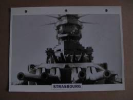 2  Fiches Technique Bateau Croiseur STRASBOURG - Boten