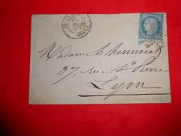 C17.lettre De Paris Rue De Clercy Etoile 4  Ex 24?. Fort Indice!! - 1871-1875 Ceres