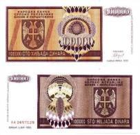 Bosnie Herzégovine 100 000 DINARA Pick 141 NEUF - Bosnia Y Herzegovina