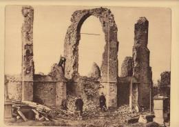 planche du service photographique arm�e belge guerre 14-18 WW1 ruine eglise de merckem