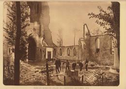 planche du service photographique arm�e belge guerre 14-18 WW1 militaire ruine eglise de lampernisse