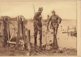 planche du service photographique arm�e belge guerre 14-18 WW1 militaire patrouilleur no man's land fusil