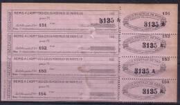 *RARETE* Bande De 4 De Colis Postaux De Paris Pour Paris Neuf (*) (Dallay N° 123, Cote +340€) - Colis Postaux
