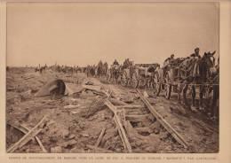 """planche du service photographique arm�e belge guerre 14-18 WW1 militaire ravitaillement a travers la """"marmitte"""""""