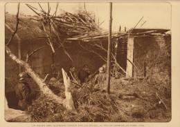 planche du service photographique arm�e belge guerre 14-18 WW1 militaire abri allemand sud de nieuport