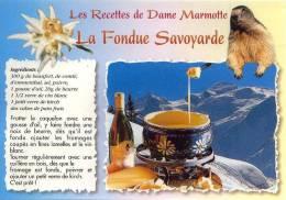Les Recettes De Dame Marmotte LA FONDUE SAVOYARDE - Recetas De Cocina