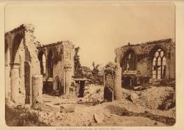 planche du service photographique arm�e belge guerre 14-18 WW1 ruine eglise de pervyse
