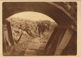 planche du service photographique arm�e belge guerre 14-18 WW1tranchee devant dixmude abri aerien