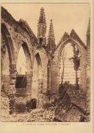 Planche Du Service Photographique Armée Belge Guerre 14-18 WW1 Eglise Notre Dame à Nieuport - Livres, Revues & Catalogues