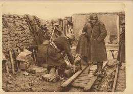 planche du service photographique arm�e belge guerre 14-18 WW1 militaire travaus dans les tranch�es