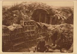 Planche Du Service Photographique Armée Belge Guerre 14-18 WW1 Militaire Mortier De Tranchée à Caeskerke - Boeken, Tijdschriften & Catalogi