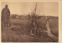 planche du service photographique arm�e belge guerre 14-18 WW1 militaire tranch�e nieuport remblai chemin de fer