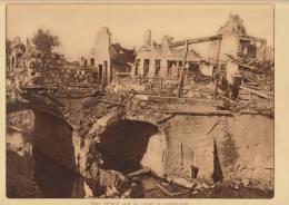 planche du service photographique arm�e belge guerre 14-18 WW1 pont detruit sur le canal de handzaeme