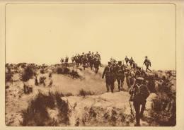 planche du service photographique arm�e belge guerre 14-18 WW1 cavalerie demont�e traversant les dunes