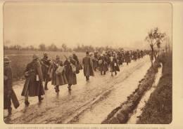 planche du service photographique arm�e belge guerre 14-18 WW1 militaire les lanciers quittent loo vers hoogstaede