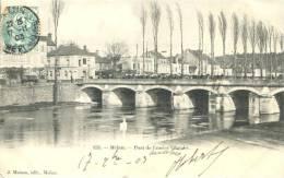 77 - CPA Pionnière Melun - Pont De L'Ancien Chatelet - Melun