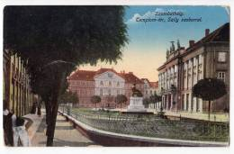 EUROPE HUNGARY SZOMBATHELY THE CHURCH AND THE SZILY STATUE OLD POSTCARD 1916. - Hungary