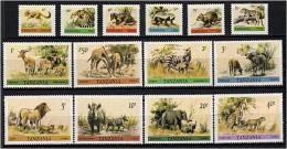 TANZANIE 1980 - Animaux Sauvages Girafe Panthere ... - Serie Neuve Sans Charniere (Yvert 163/76) - Tanzania (1964-...)