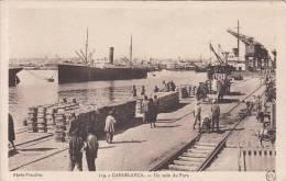 Maroc - Casablanca : Un Coin Du Port - Belle Animation - Bateaux - Quai De Chargement - CPSM écrite - Casablanca