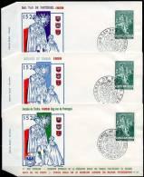 BE   FDC  1093    ----   Journée Du Timbre 1959  --  Trois Enveloppes Officielles Bruxelles Wallonie Flandre - FDC