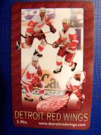 USA Phone Card, Detroit Red Wings, Sport Ice Hockey, Limited Edition 10 000 - Vereinigte Staaten