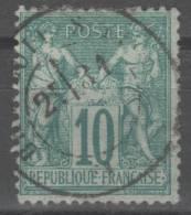 Sage  N° 65 Avec Oblitération Cachet à Date  TTB - 1876-1878 Sage (Type I)
