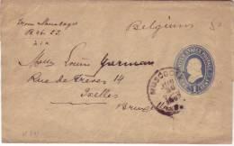 Entier 1 Cent De Muscogee à Bruxelles Du 30 Jun 1897