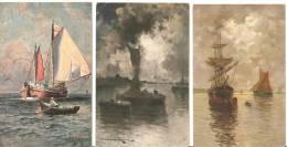 "6 Cartes Postales  ""Marine"" Bateaux.Voiliers. - Andere"
