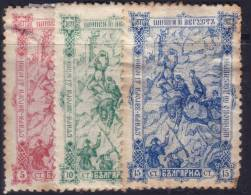 Bulgarie Y&T N° 62 To 64 MH (Neufs *) (Cote +22€) - Unused Stamps