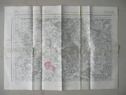 VOUZIERS QUILLY VANDY VRIZY GRIVY GRANDPRE  BRIQUENAY BUZANCY  CONTREUVE SUGNY MONTHOIS ST MOREL HARRICOURT GERMONT - Topographical Maps