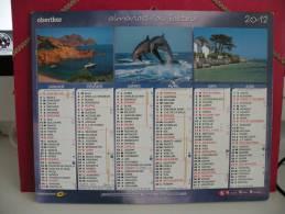 Paysages - Calendrier Almanach Du Facteur - Oberthur 2012 - Calendriers