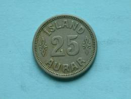 1933 N GJ - 25 AURAR / KM 2.1 ( Uncleaned Coin / For Grade, Please See Photo ) !! - Islande