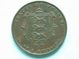 1851 - 1/13th SHILLING / KM 3 ( Uncleaned Coin / For Grade, Please See Photo ) !! - Jersey