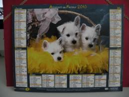 Les Chiens- Calendrier Almanach Du Facteur - Lavigne 2012 - Calendriers