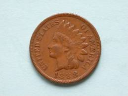 1888 - ONE CENT Indian Head / KM 90a ( Uncleaned Coin / For Grade, Please See Photo ) !! - 1859-1909: Indian Head
