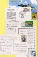 LOT DE TIMBRES SUR  CARTES POSTALES + 1 LETTRE (3 Scans) - Cartoline